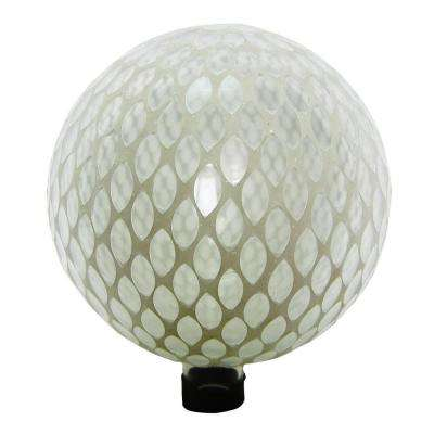 10 in. White Mosaic Gazing Globe