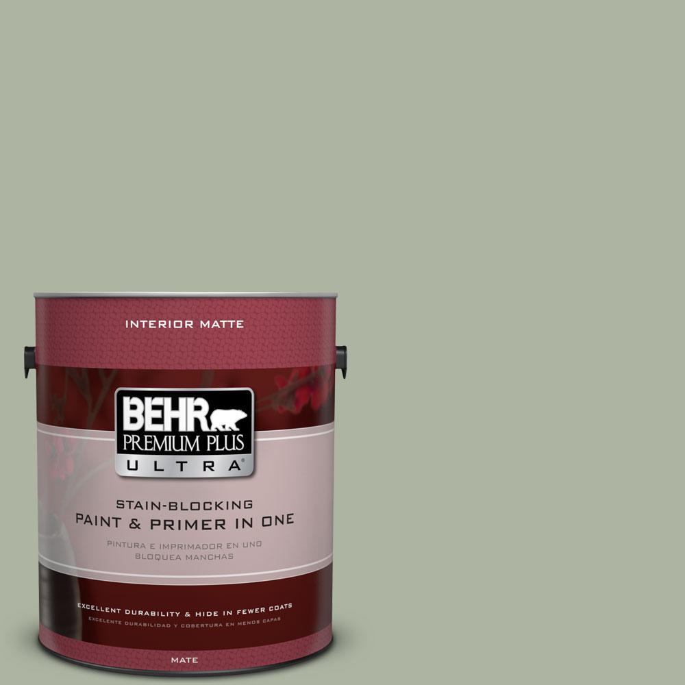 BEHR Premium Plus Ultra 1 gal. #430E-3 Laurel Mist Flat/Matte Interior Paint