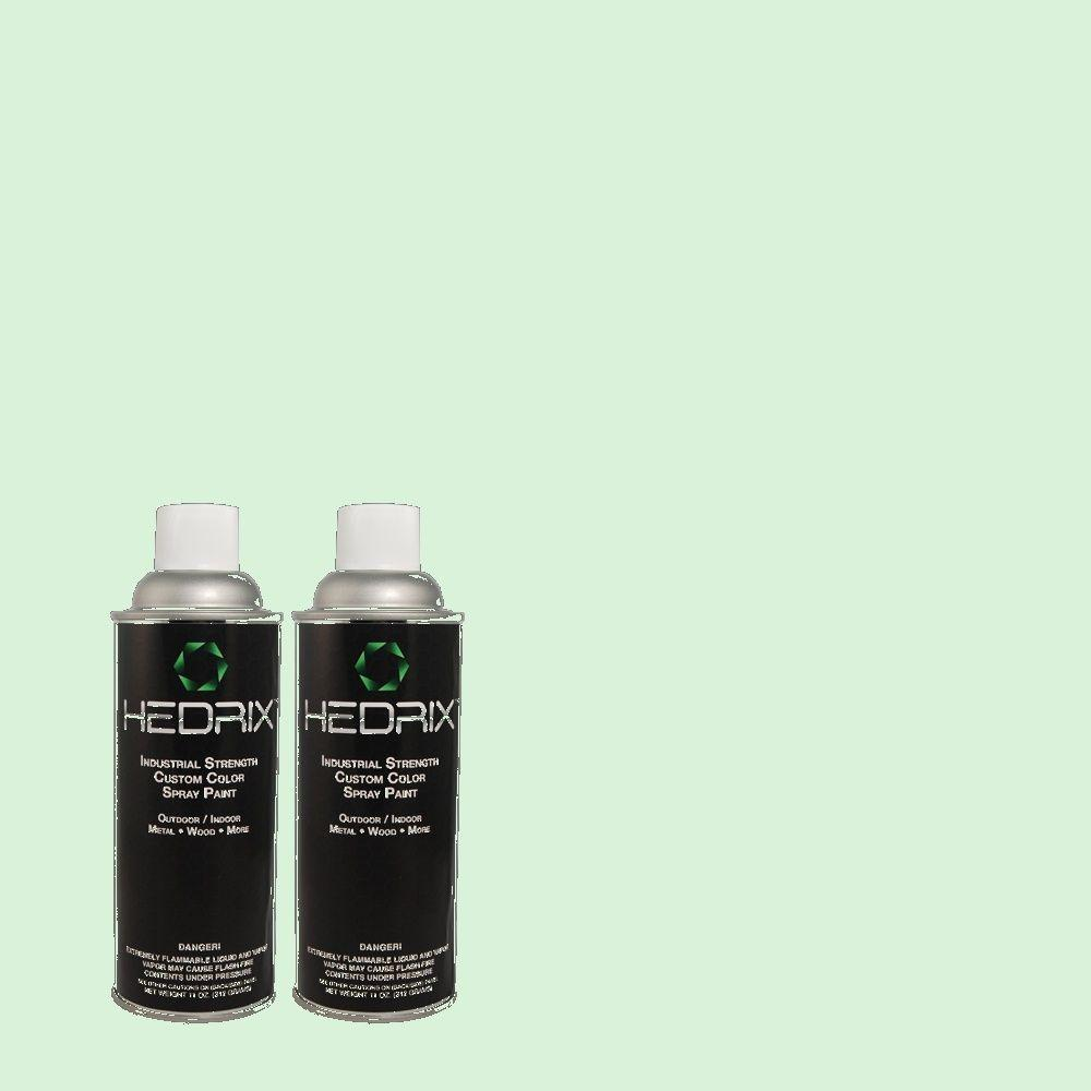 Hedrix 11 oz. Match of 1B52-1 Ice Breaker Flat Custom Spray Paint (2-Pack)