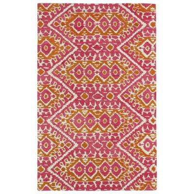 Global Inspiration Pink 8 ft. x 10 ft. Area Rug
