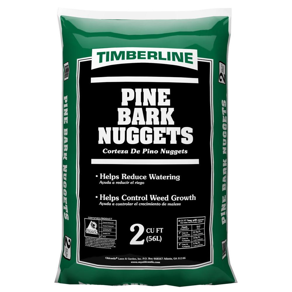Timberline 2 Cu Ft Pine Bark Nuggets 52055472 The Home Depot