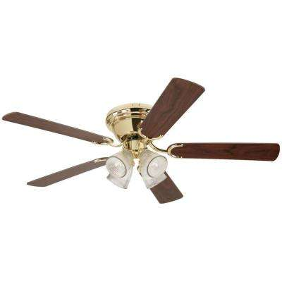 Contempra IV 52 in. Polished Brass Ceiling Fan