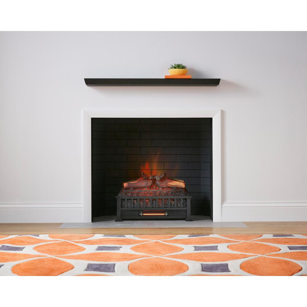 Outstanding Stylewell Barkridge 20 5 In Infrared Electric Log Set Heater Beutiful Home Inspiration Ommitmahrainfo