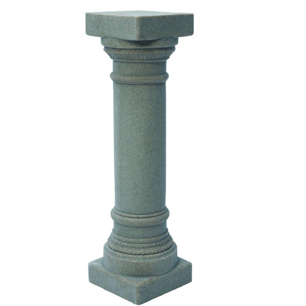 Emsco In Grey Greek Column The Home Depot - Column pedestal plant stand