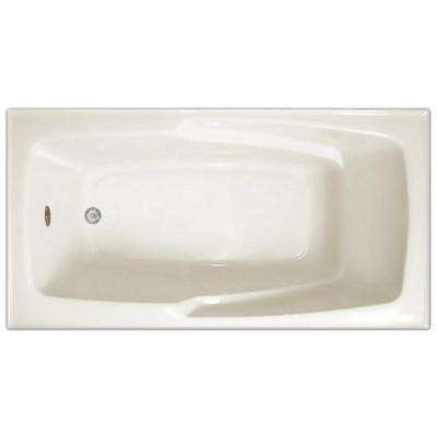 5 ft. Acrylic Rectangular Drop-in Non-Whirlpool Bathtub in White