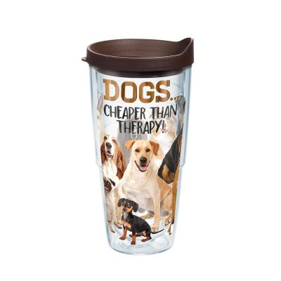 Dog Therapy 24 oz. Tumbler with Lid