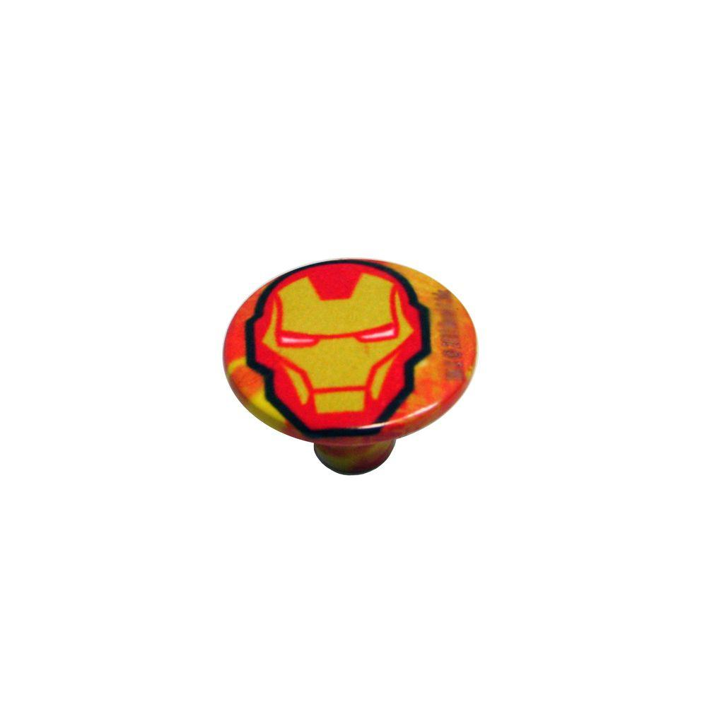 Rish Painted Iron man 1.18 in. Cabinet Knob-DISCONTINUED