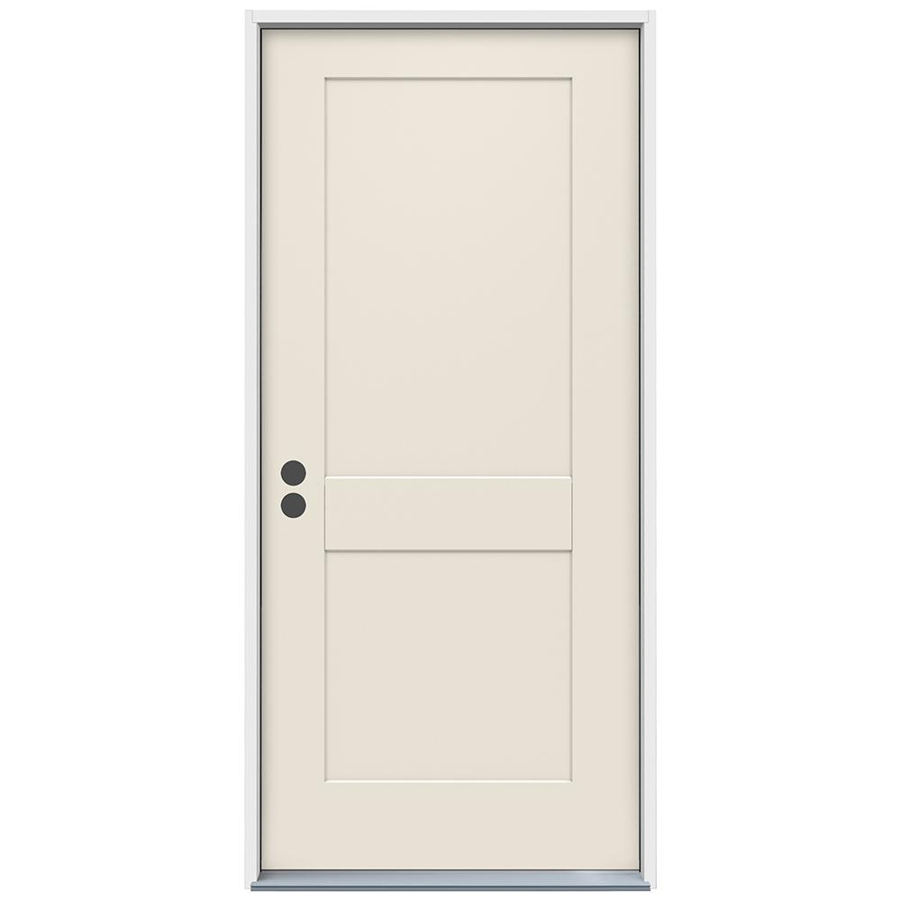 Attrayant This Review Is From:36 In. X 80 In. 2 Panel Craftsman Primed Steel Prehung  Right Hand Inswing Front Door