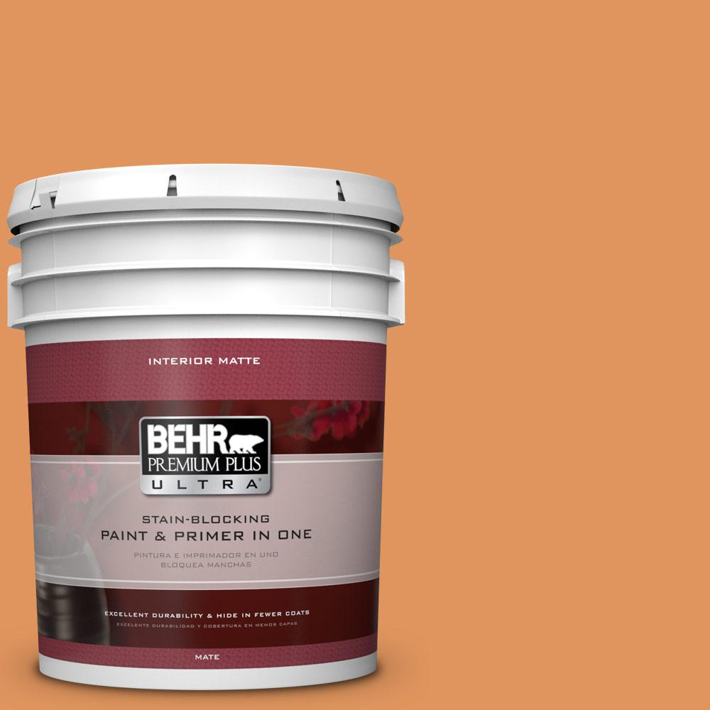 5 gal. #M230-6 Amiable Orange Matte Interior Paint