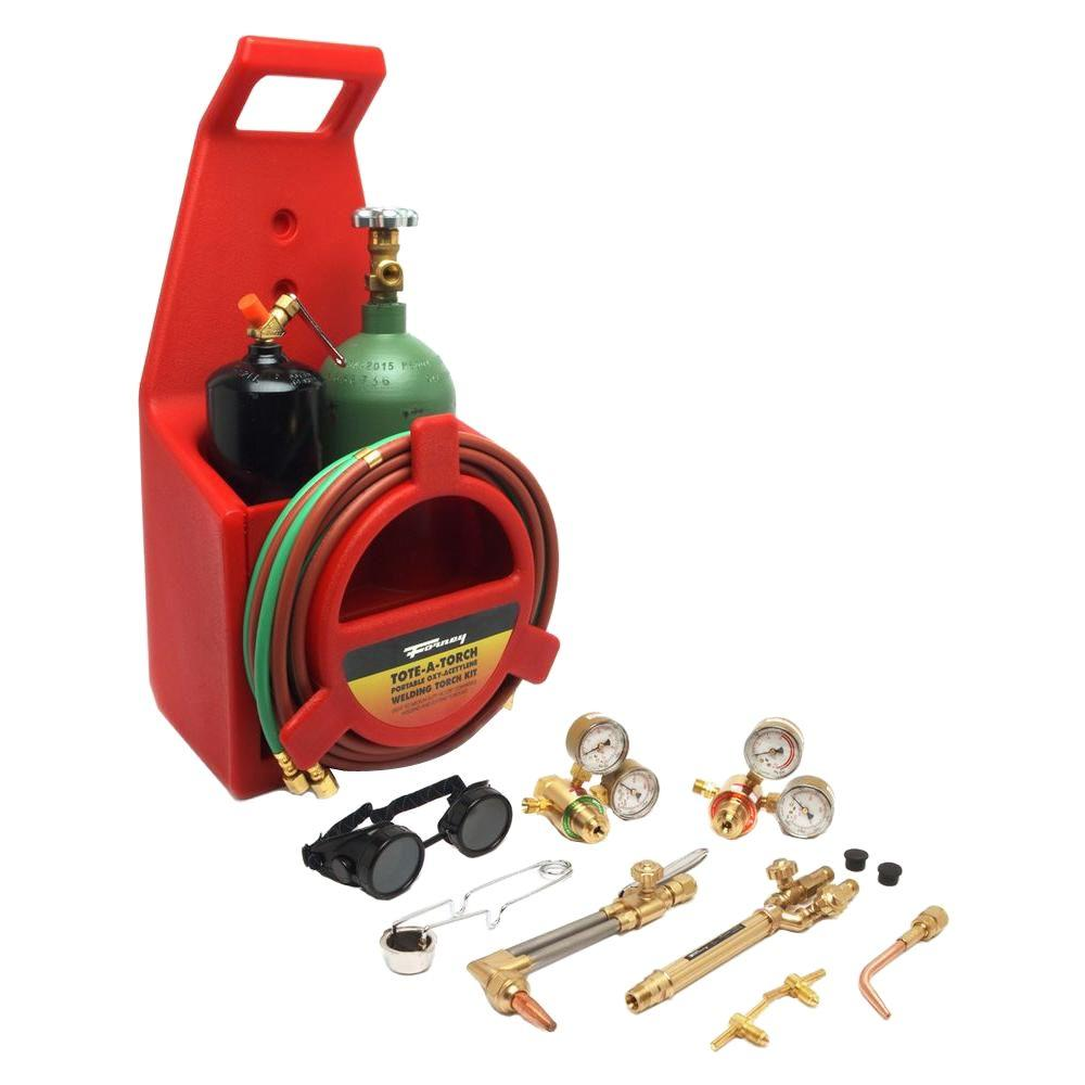 Forney Light Duty Oxygen Acetylene Victor Type Tote A Torch Kit