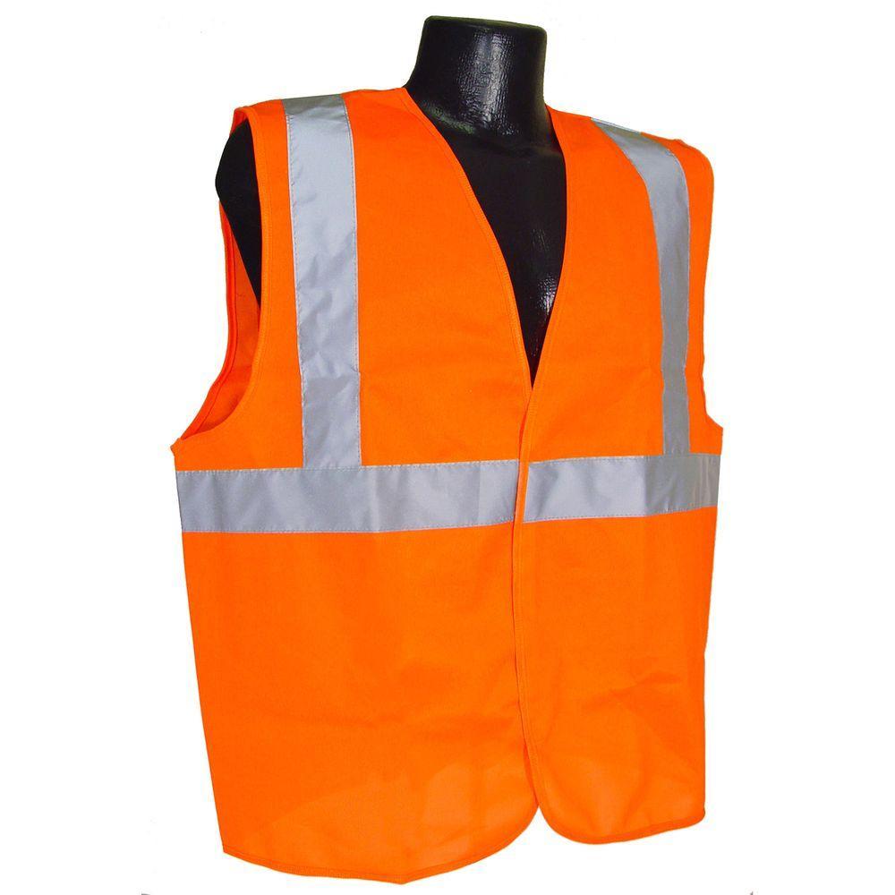 Safety Vest Cl 2 Orange Solid Medium