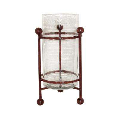 Mission 20 in. Iron And Glass Decorative Hotel Vase in Montana Rustic
