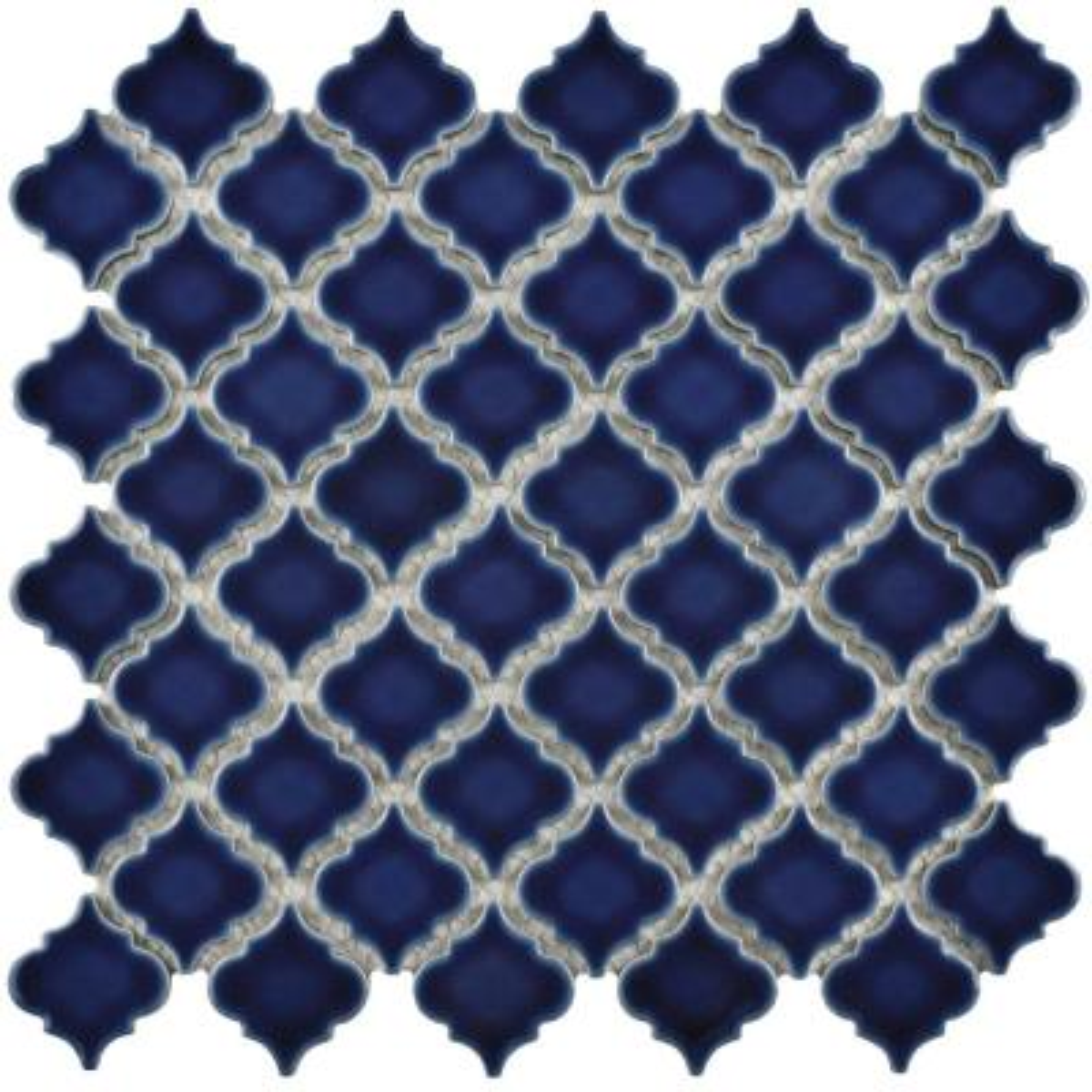 Hudson Tangier Smoky Blue 12 in. x 12 in. Porcelain Mosaic Tile (10.96 sq. ft. / Case)