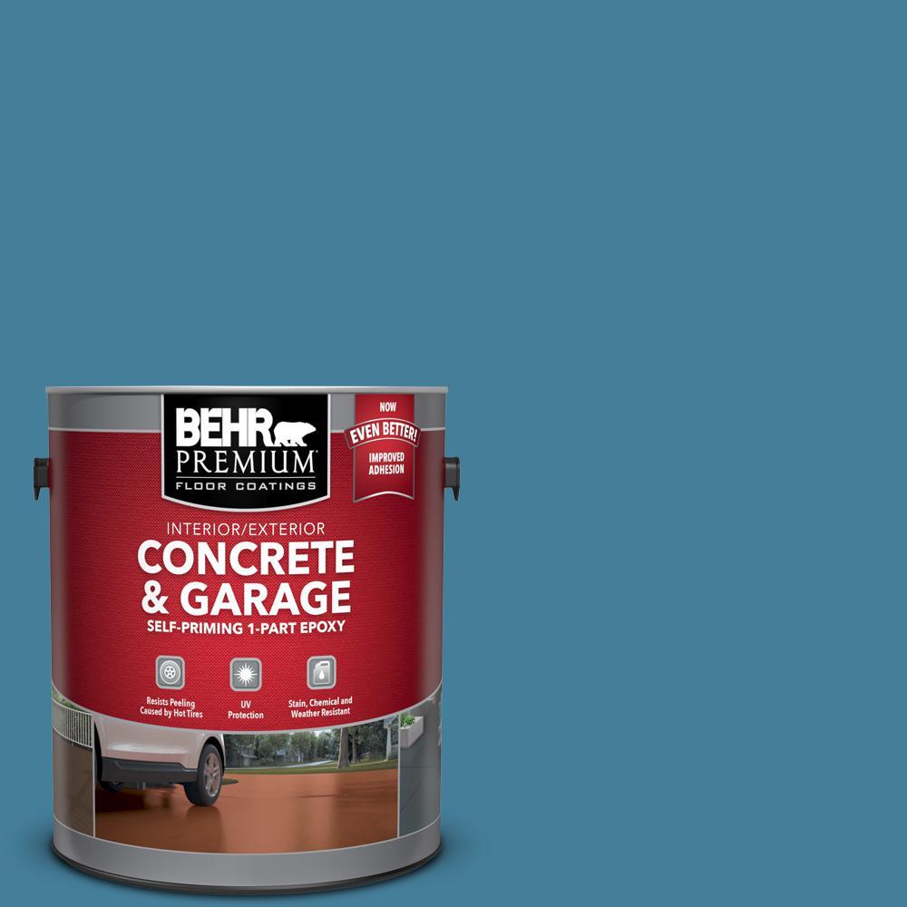 1 gal. #PFC-58 Alpine Sky Self-Priming 1-Part Epoxy Satin Interior/Exterior Concrete and Garage Floor Paint