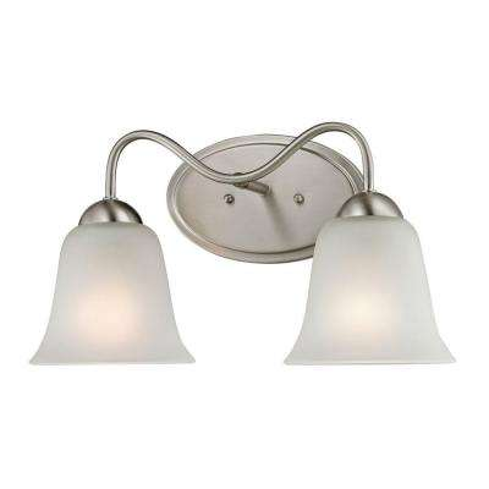 Conway 2-Light Brushed Nickel Wall Mount Bath Bar Light