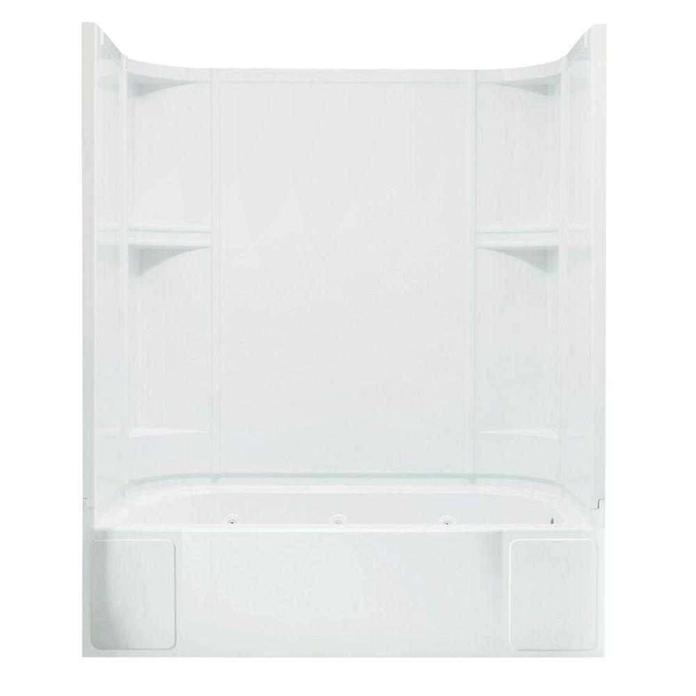 STERLING Accord 31-1/4 in. x 60 in. x 73-1/2 in. Bath and Shower Kit with Right-Hand Drain inWhite