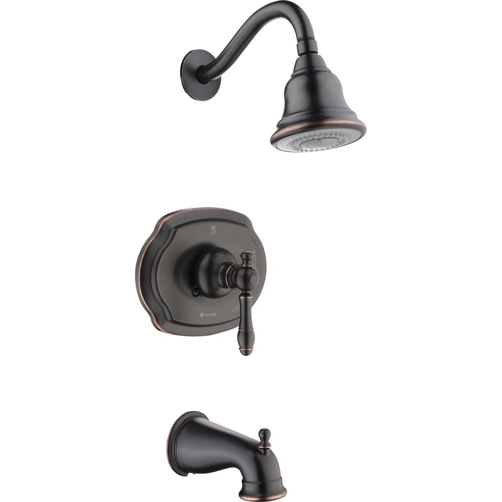 Glacier Bay Lyndhurst Single-Handle 3-Spray Tub and Shower Faucet in Bronze