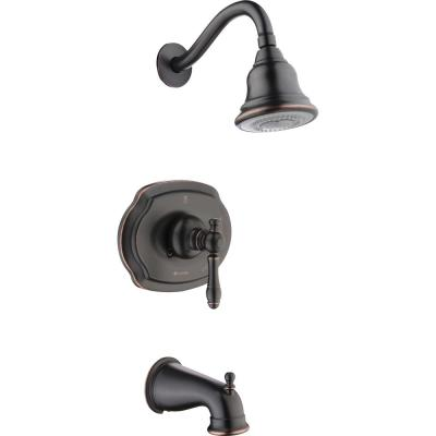 Lyndhurst Single-Handle 3-Spray Tub and Shower Faucet in Bronze