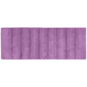 Click here to buy Garland Rug Essence Purple 22 inch x 60 inch Washable Bathroom Accent Rug by Garland Rug.