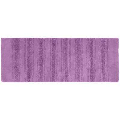 Essence Purple 22 in. x 60 in. Washable Bathroom Accent Rug