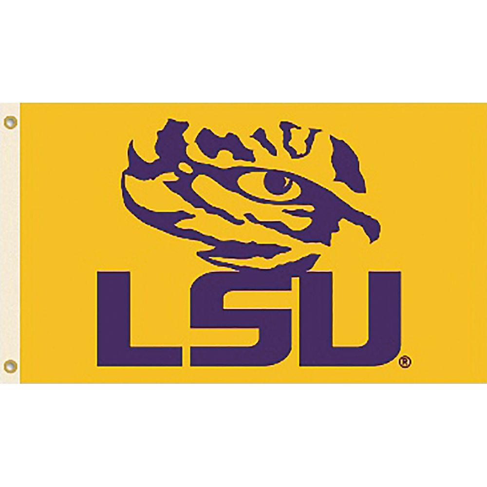 NCAA LSU 3 ft. x 5 ft. Collegiate 2-Sided Flag with