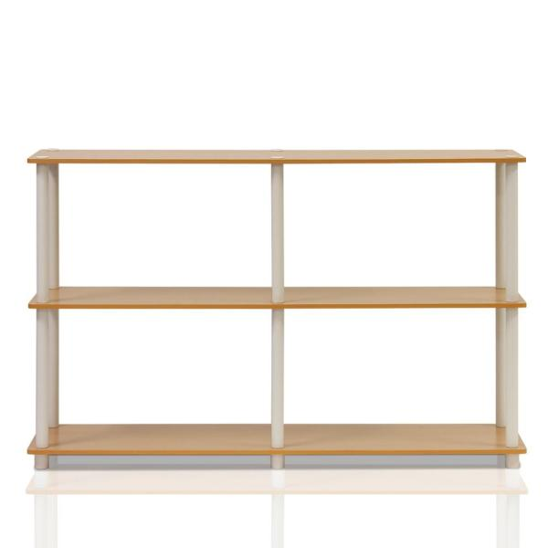 Furinno Turn-N-Tube Beech Open Bookcase 99130BE/WH