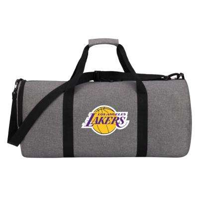 Lakers Wingman 10 in. Heathered Gray Duffle Bag
