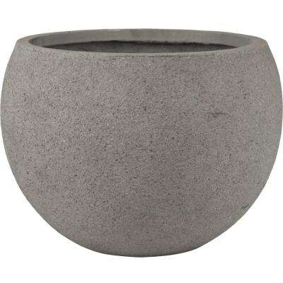 Origins Terrazzo 16 in. Light Gray Bowl Planter