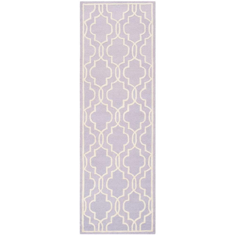 Safavieh Cambridge Lavender/Ivory 2 ft. 6 in. x 12 ft. Runner