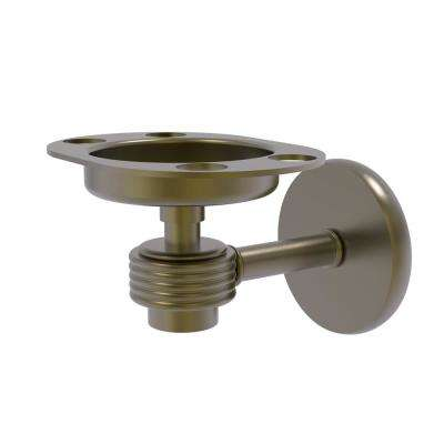 Satellite Orbit 1-Tumbler and Toothbrush Holder with Groovy Accents in Antique Brass
