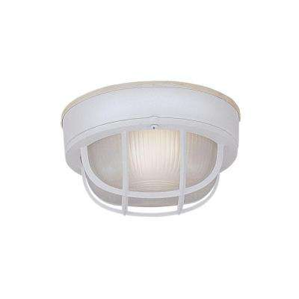 Bulkhead 1-Light White Outdoor Incandescent Bulkhead