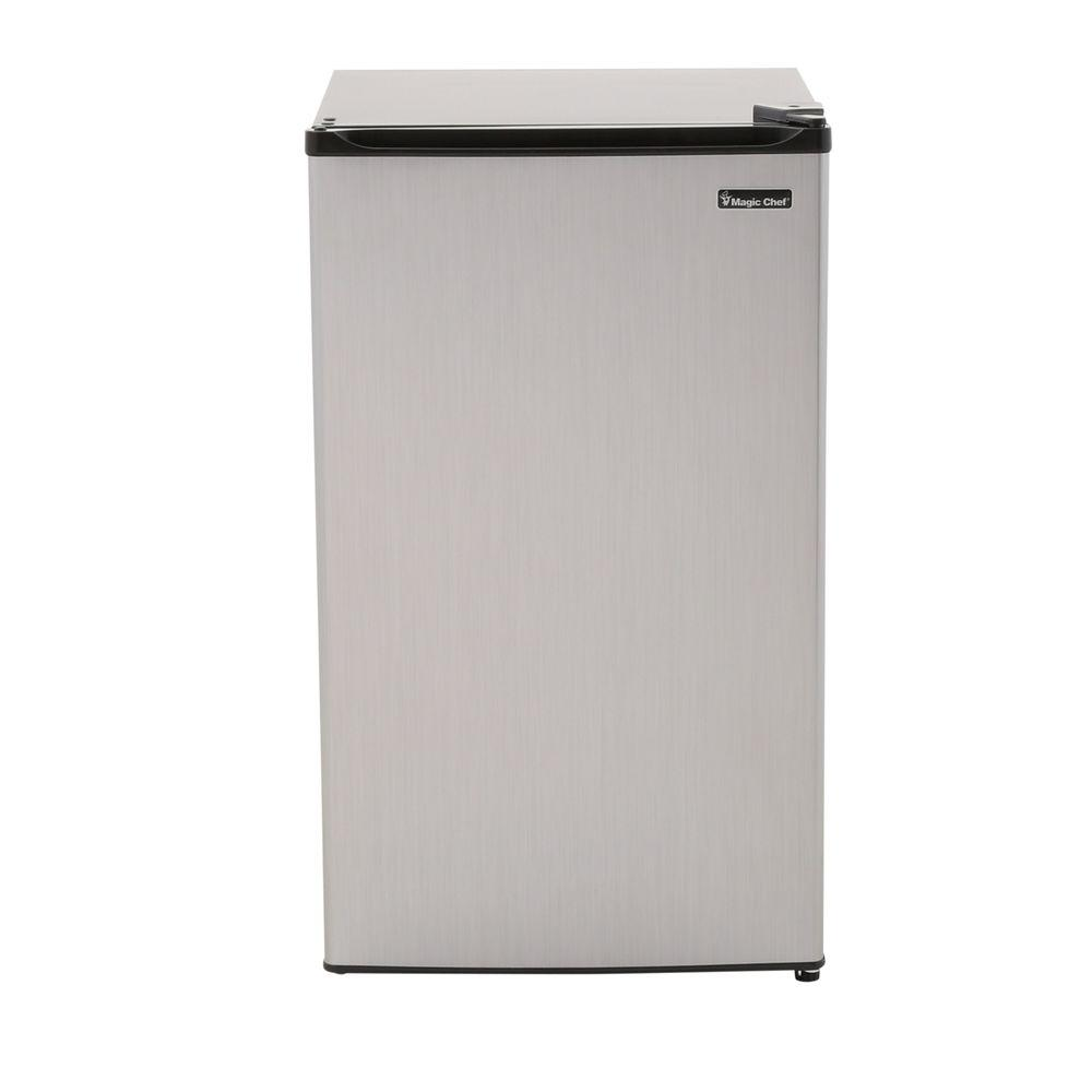 refrigerator 7 5 cu ft. magic chef 3.5 cu. ft. mini refrigerator in stainless look, energy star. +7 7 5 cu ft