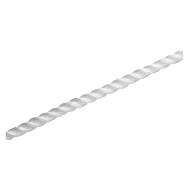 1/4 in. x 100 ft. White Twisted Polypropylene Rope
