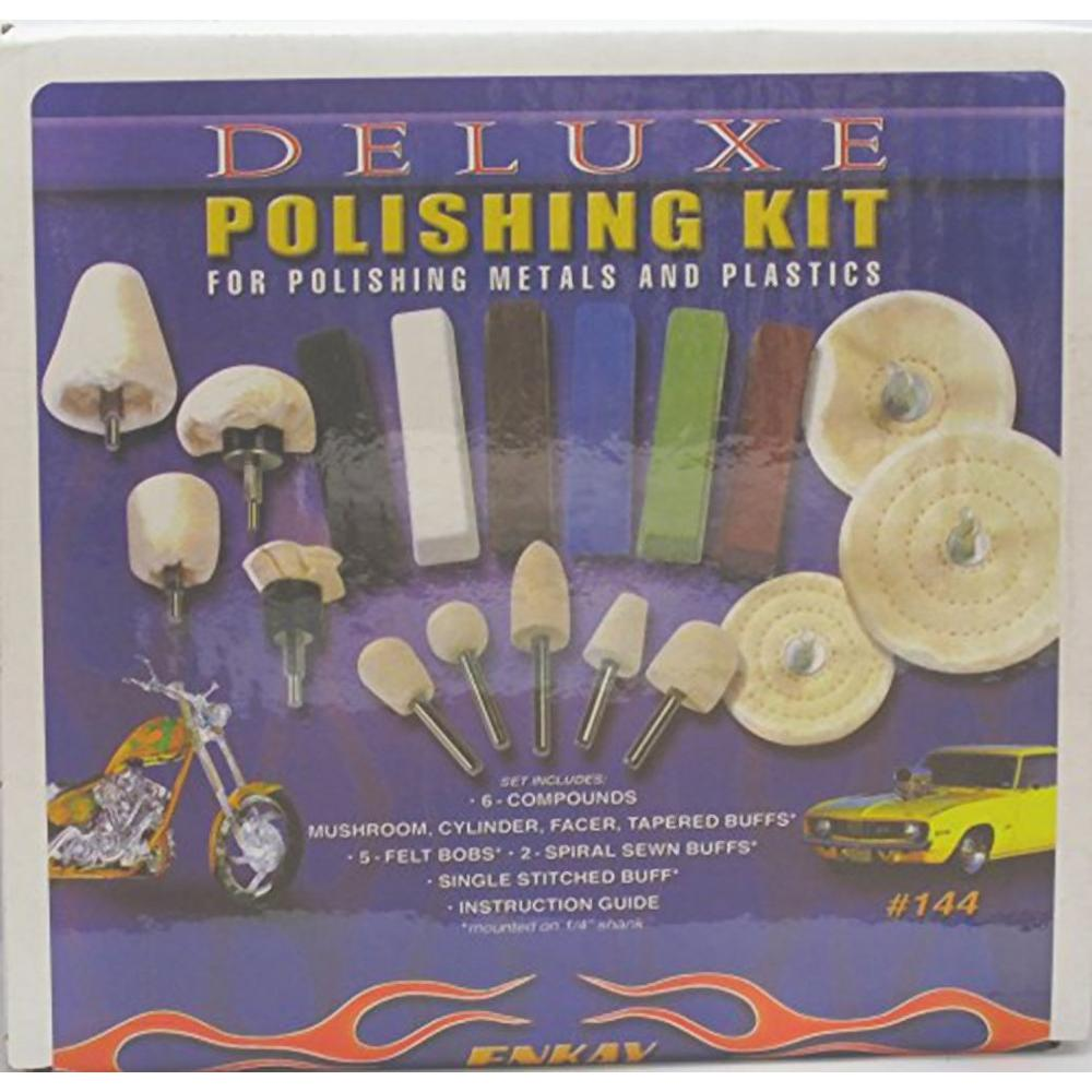 Enkay Deluxe Polishing Kit Enkay Products specializes in providing tools to customers at a better value without compromising quality. The company was established in 1952. They are a distributor of hand tools, drill accessories, hobby tools, polishing tools and specialty tools.