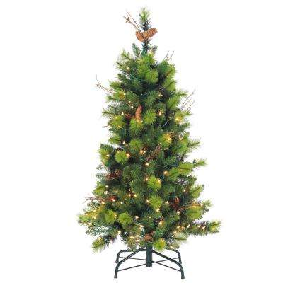 4 ft. Michigan Spruce Artificial Christmas Tree with 150 Lights