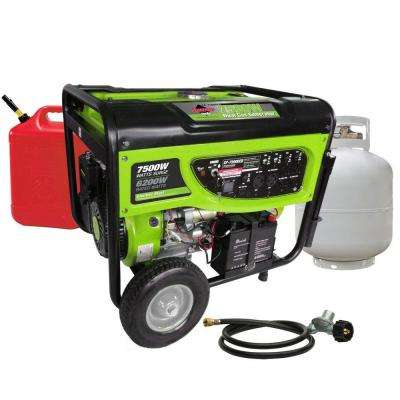 GP7500DEB, 6,200-Watt Propane (LPG) or Gas Powered Generator