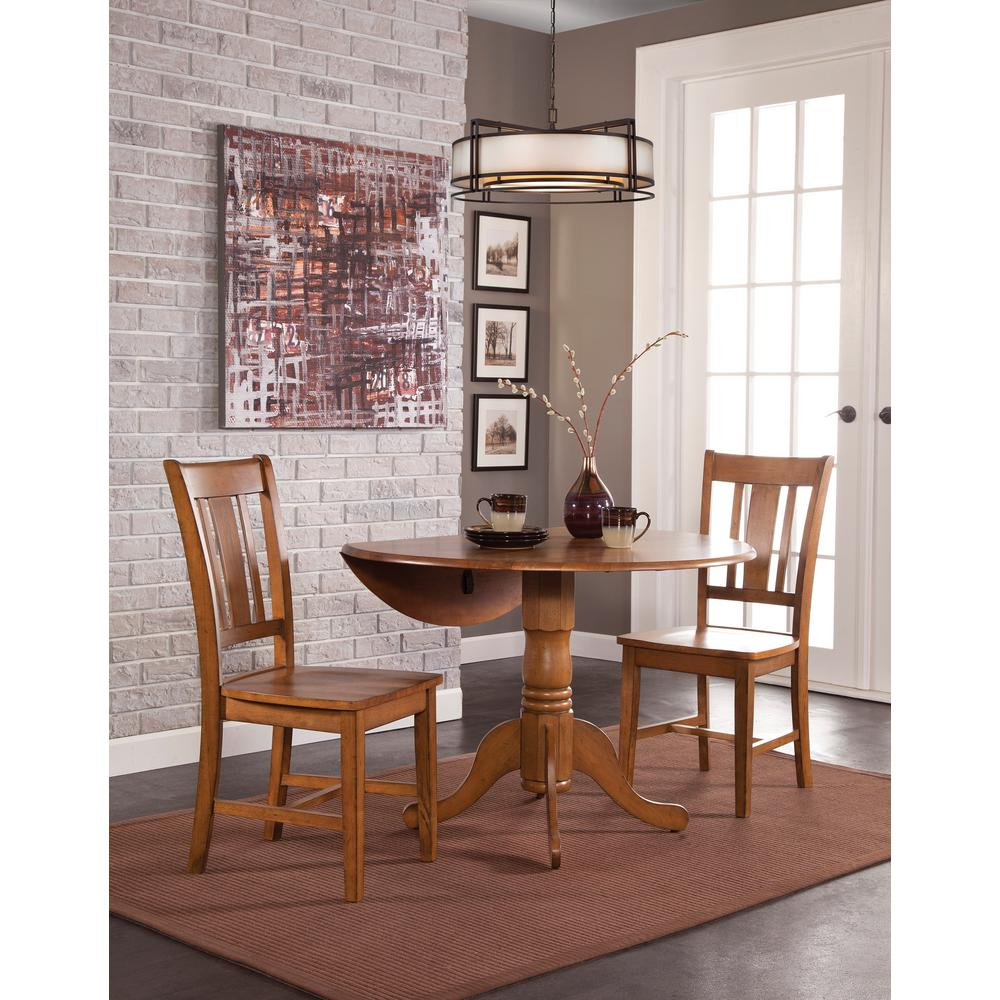 International Concepts Distressed Pecan Solid Wood Dropleaf Dining