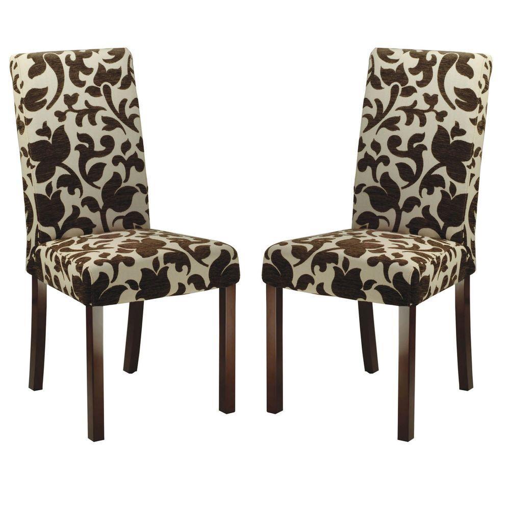 safavieh parsons floral print dining chair set of 2 hud8207a set2 the home depot. Black Bedroom Furniture Sets. Home Design Ideas