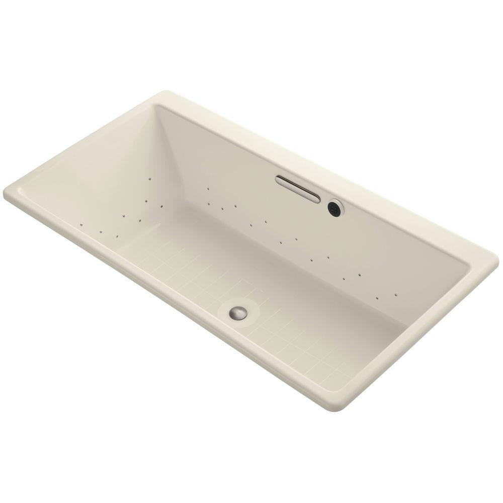 Reve 5.5 ft. Air Bath Tub in Almond