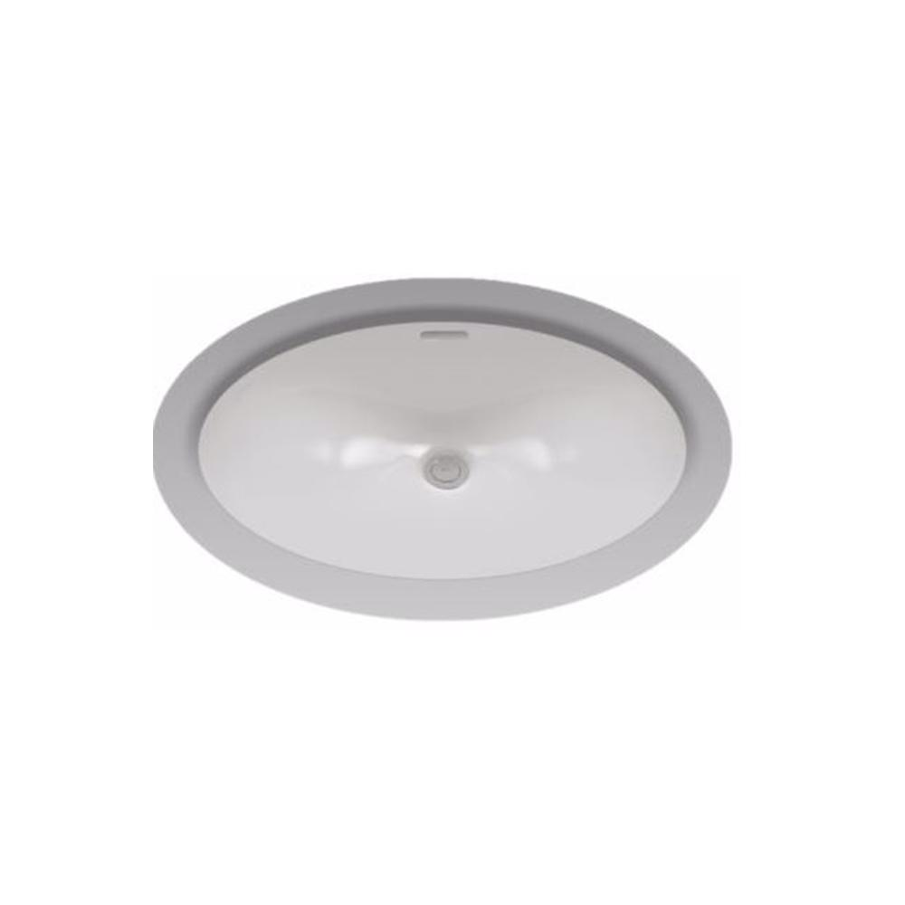 Oval undermount bathroom sink