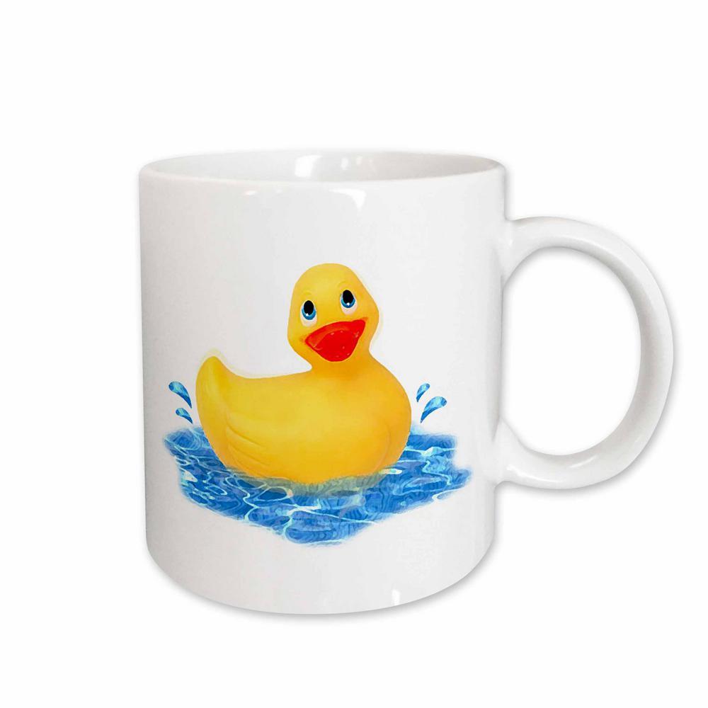 11 oz. White Ceramic Rubber Duck Mug