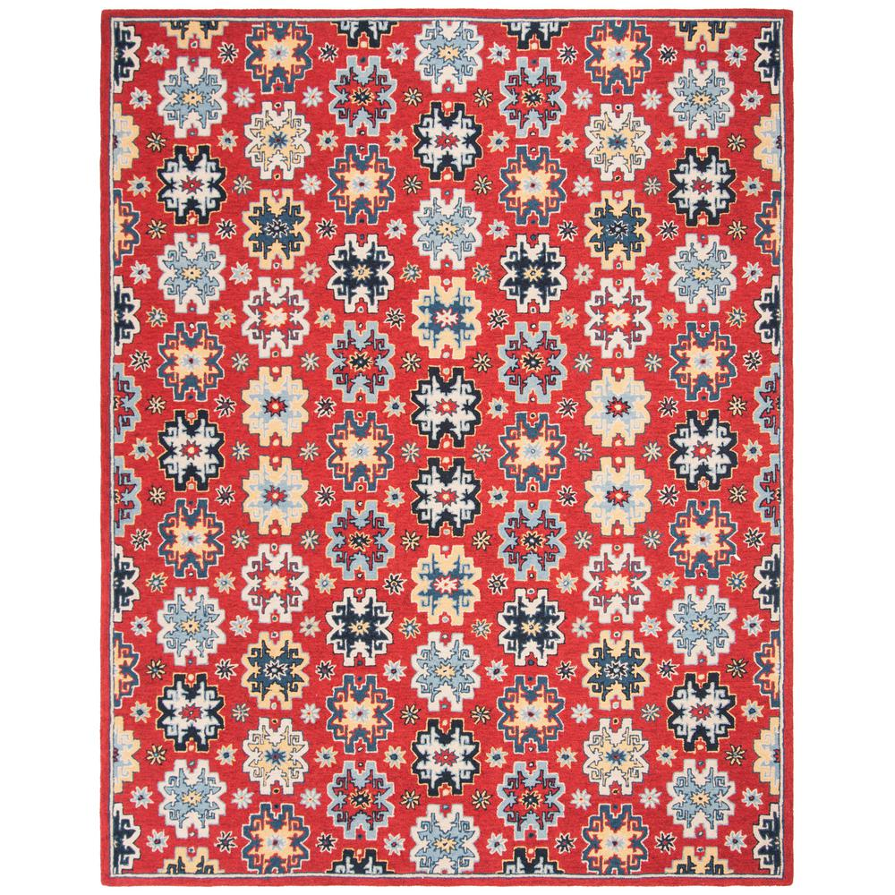 Safavieh Heritage Red Blue 5 Ft X 8 Ft Area Rug Hg746q 5 The