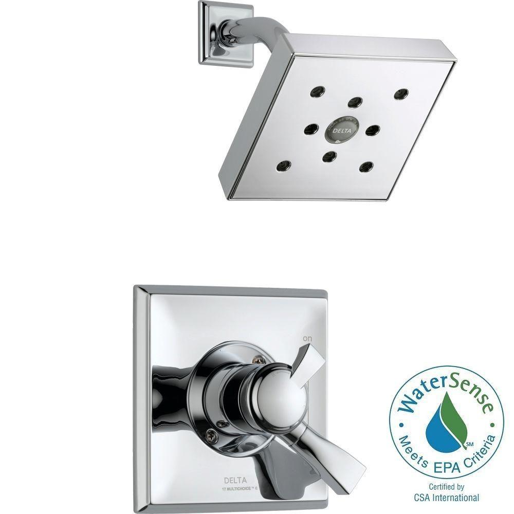 Dryden 1-Handle H2Okinetic Shower Only Faucet Trim Kit in Chrome (Valve
