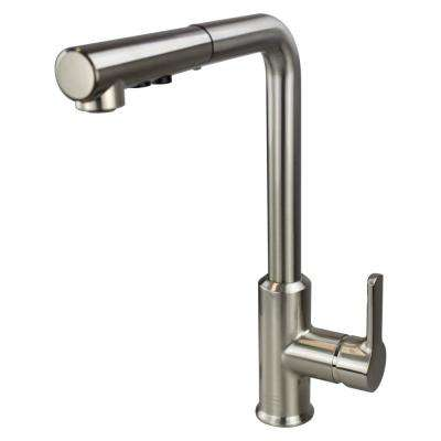 Transolid T3580-LS Pull Out Kitchen Faucet with Single Handle Luxe Stainless