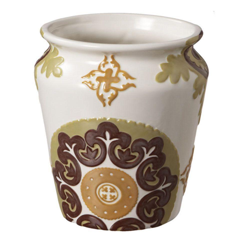 Filament Design Sundry 9 in. Ceramic Decorative Vase in Multi Color-DISCONTINUED