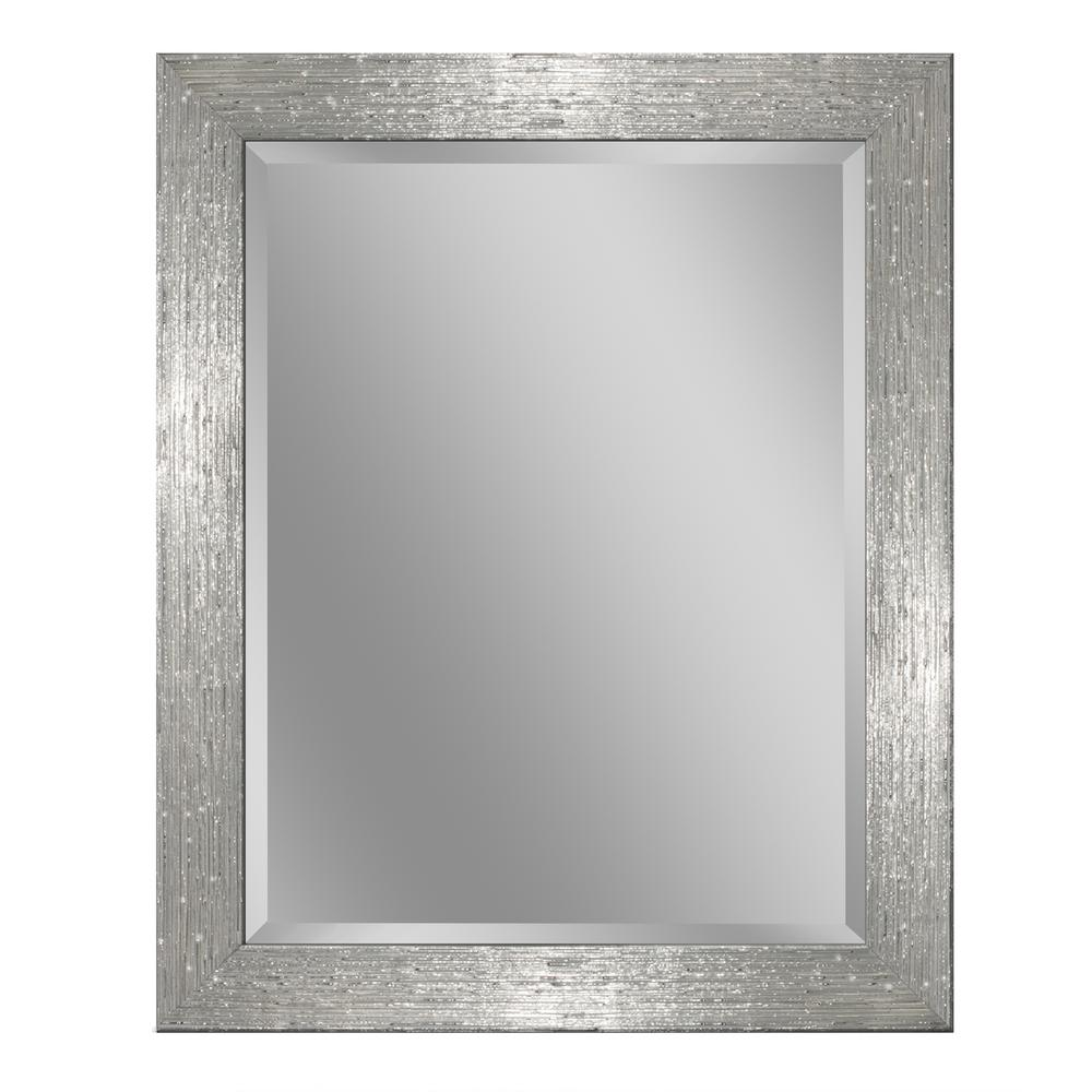 28 in. W x 34 in. H Driftwood Wall Mirror in