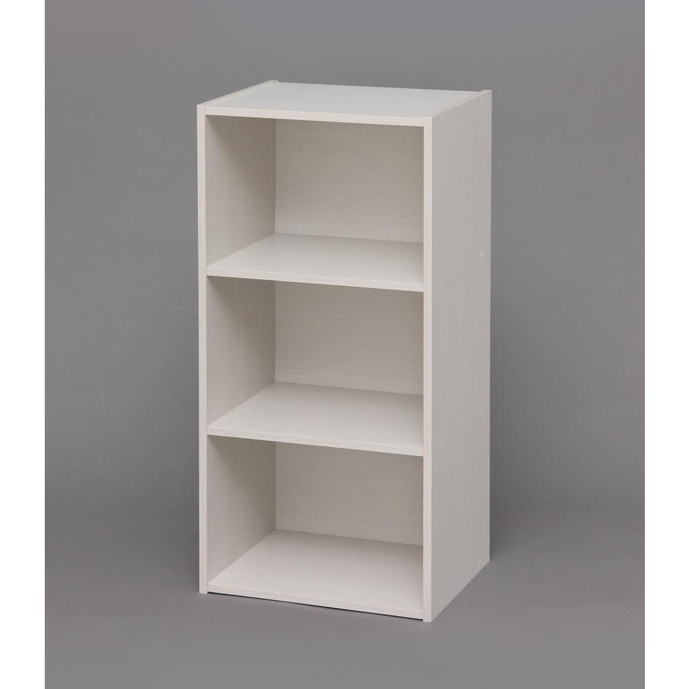 Waku Series White 3-Cube Modular Storage Box