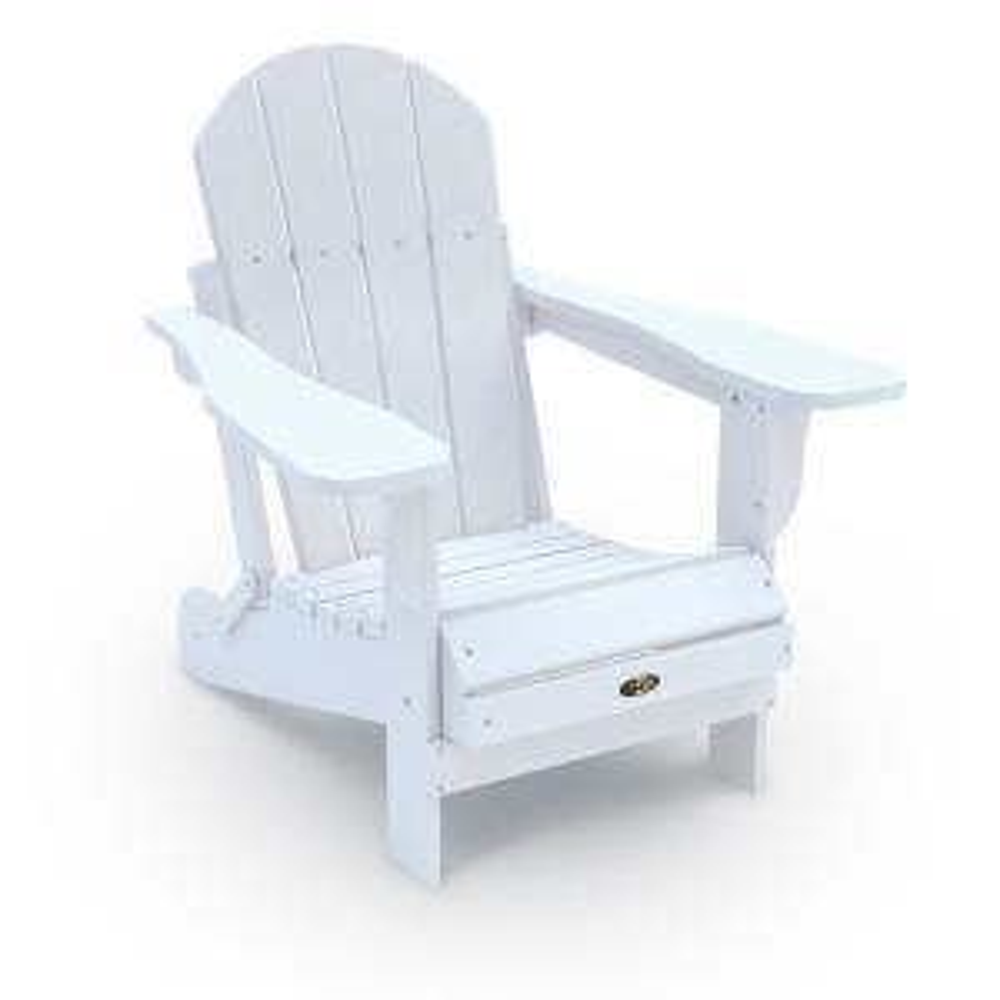Recycled White Folding Plastic Adirondack Chair