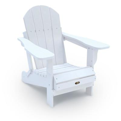 Recycled White Folding Plastic Adirondack Chair