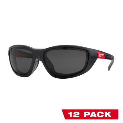 Performance Polarized Safety Glasses with Tinted Fog-Free Lenses and Gasket (12-Pack)